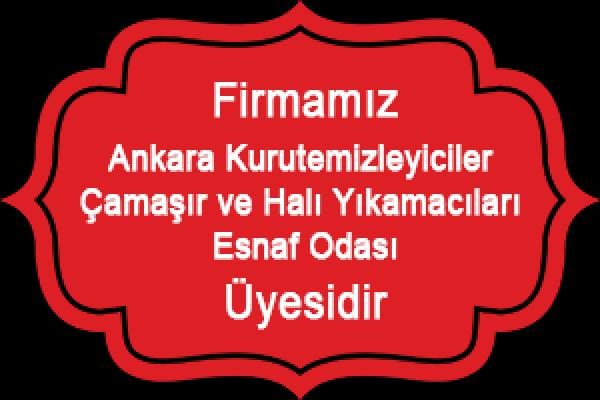 Ankara Kurutemizleyiciler Çamaşır ve Halı Yıkamacıları Esnaf Odası Üyesidir